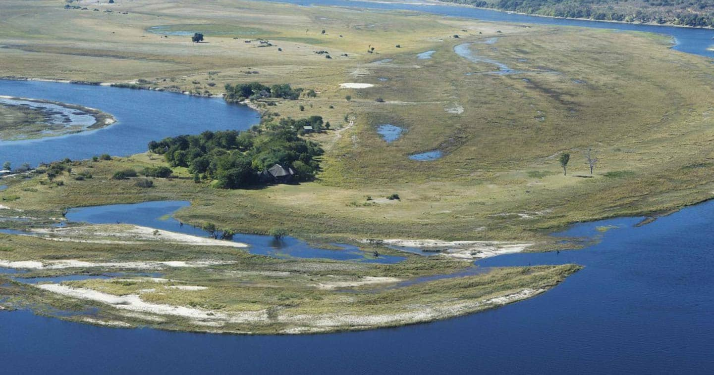 Aerial view of Chobe Savanna Lodge in Namibia