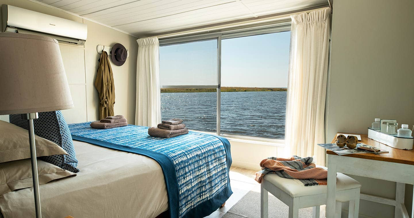 Bedroom on Chobe Princess river cruise