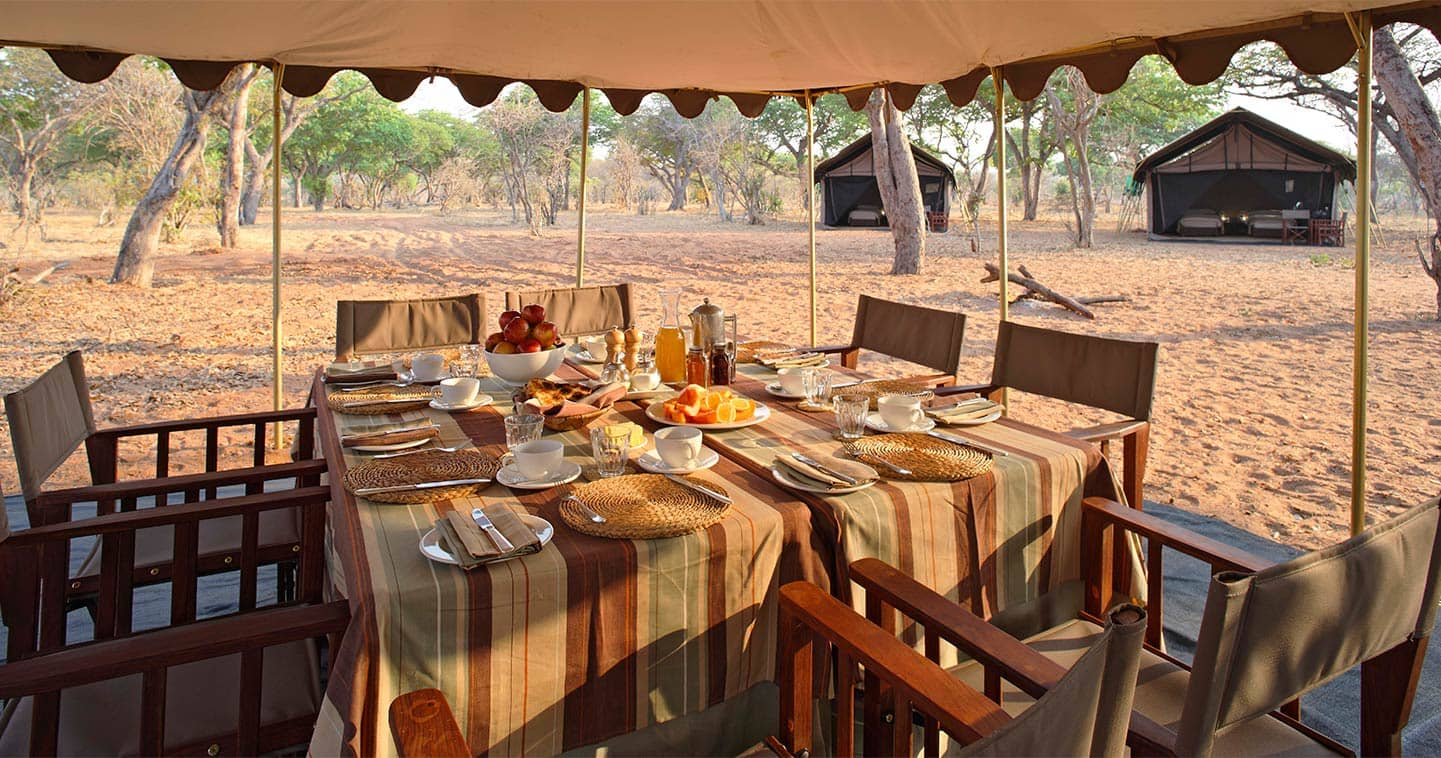 Breakfast at Chobe Under Canvas