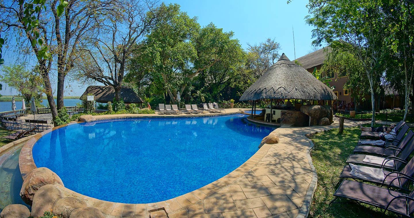 Swimming pool at Chobe Marina Lodge