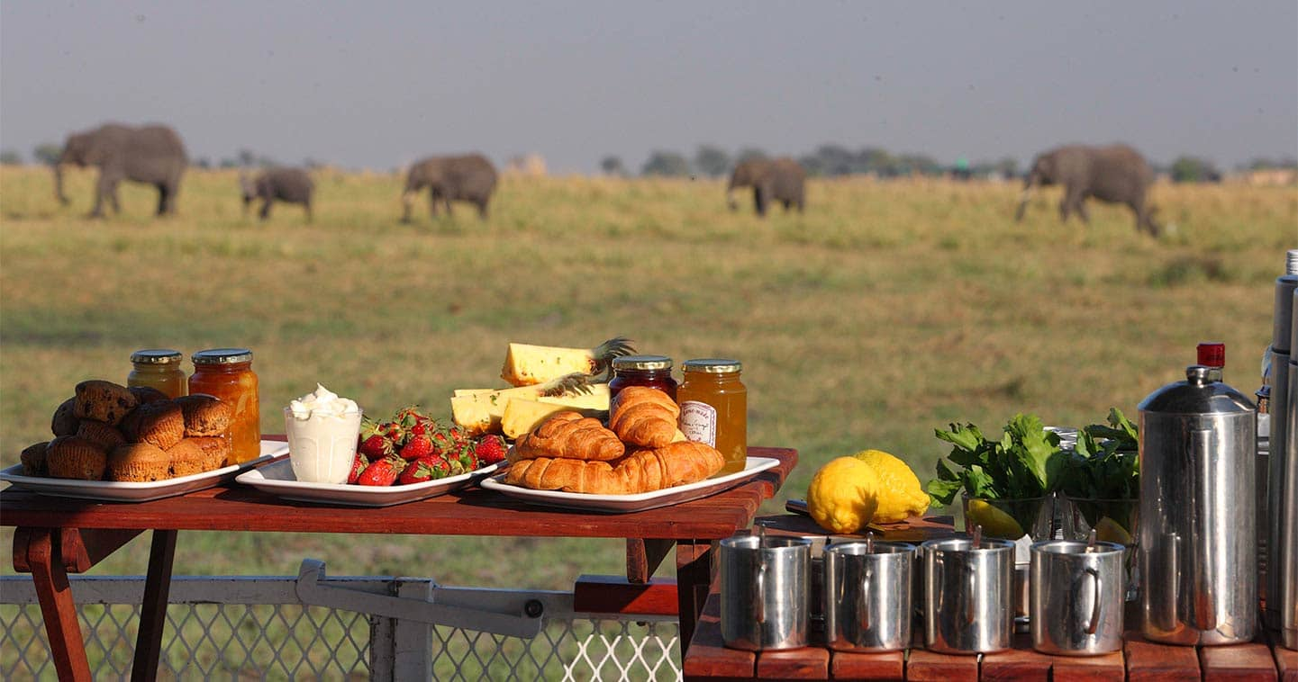Enjoy the Exellent Food in Chobe Under Canvas in Chobe National Park