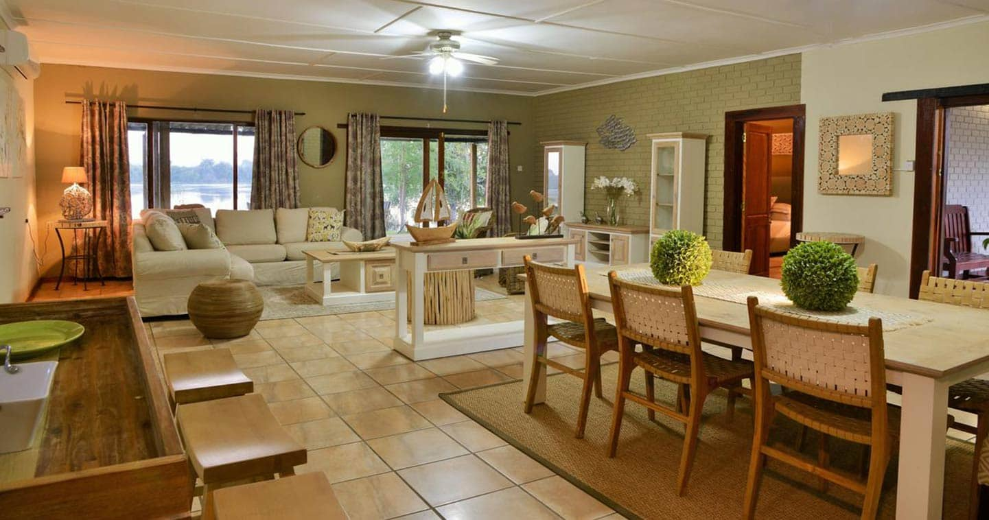 The interior of Chobe River View Lodge