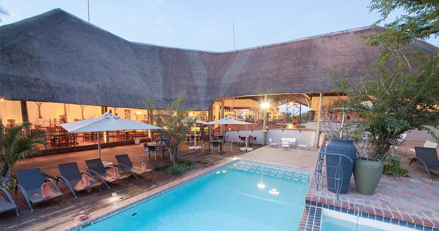chobe bush lodge in kasane near chobe national park. Black Bedroom Furniture Sets. Home Design Ideas