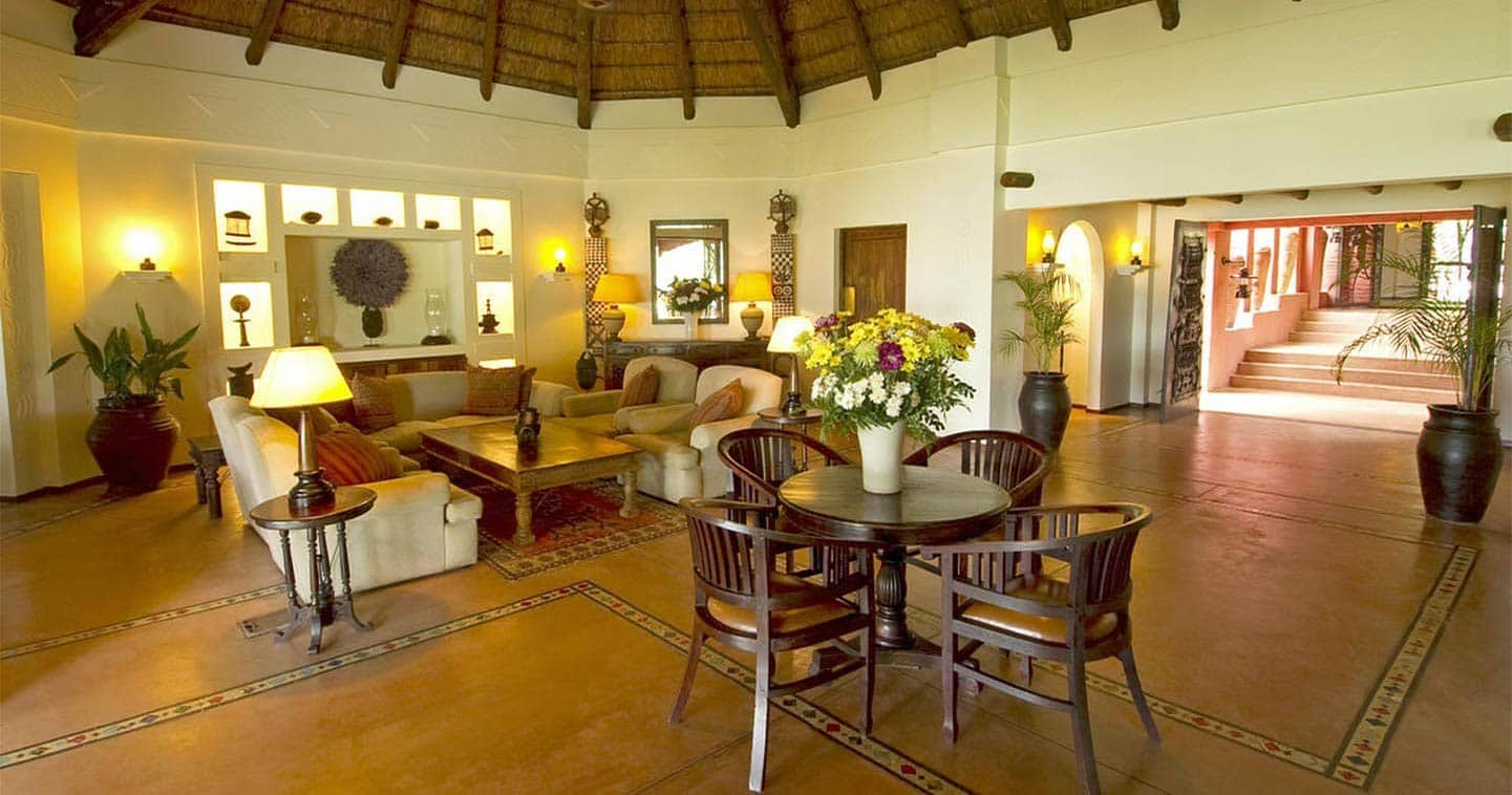 Lounge at the Sanctuary Chobe Chilwero in Chobe National Park