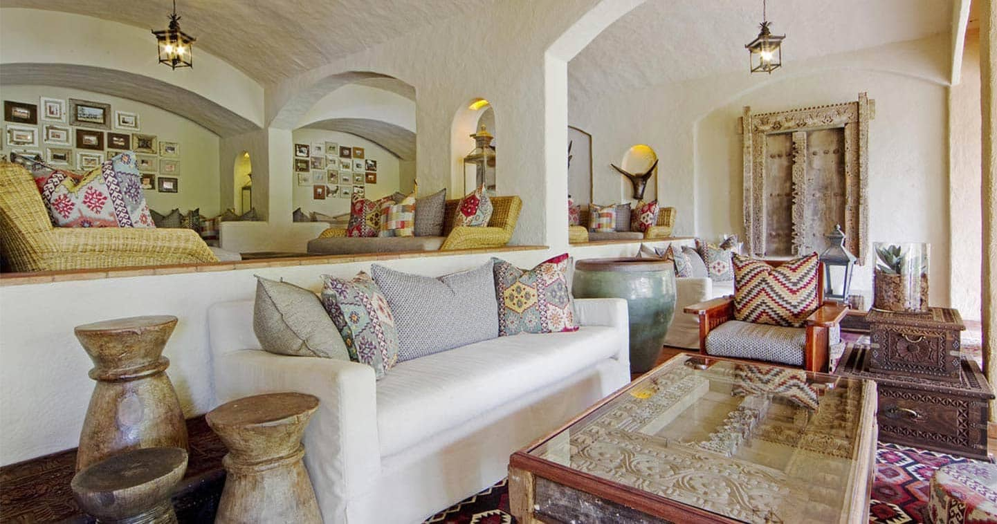 Luxury Lodge Accommodation Lounge at Chobe Game Lodge
