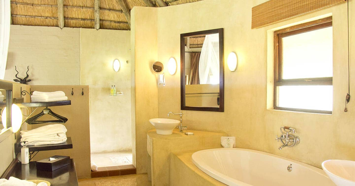 Luxury Bathroom at Ngoma Safari Lodge in Chobe National Park in Botswana