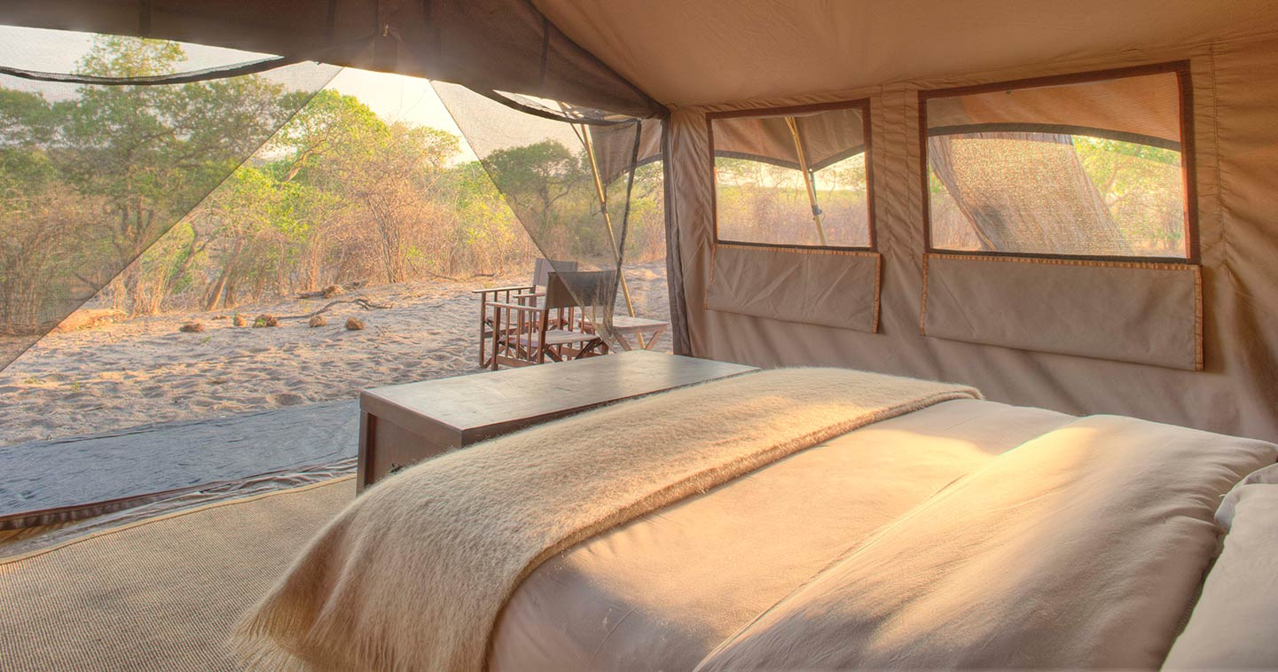 Luxury lodge in Chobe National Park Botswana: Savute Under Canvas