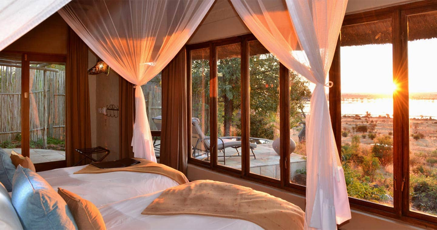 Enjoy the Sunset from your Bedroom at Ngoma Safari Lodge