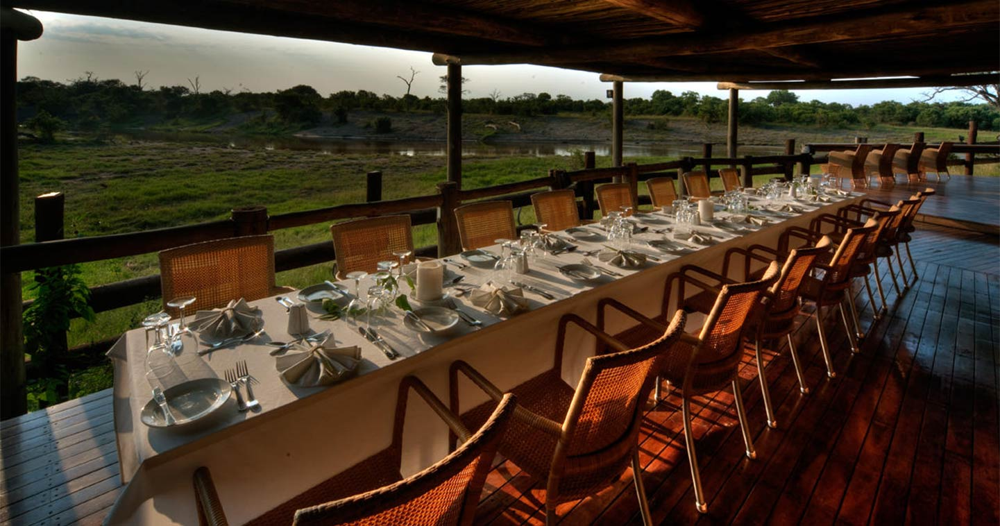 Dining at Savute Safari Lodge in Chobe