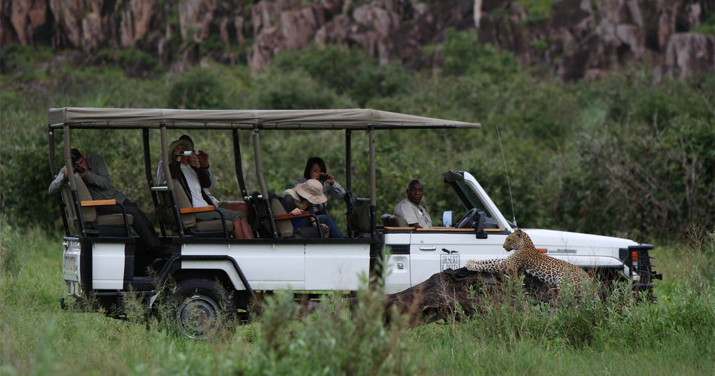 Game drive safari at Savute Safari Lodge