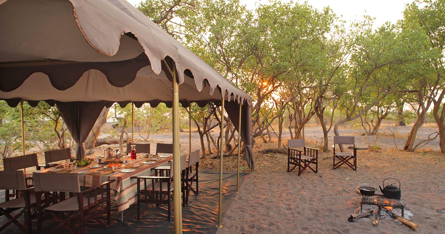 Lounge at Savute under Canvas Lodge in Chobe Botswana