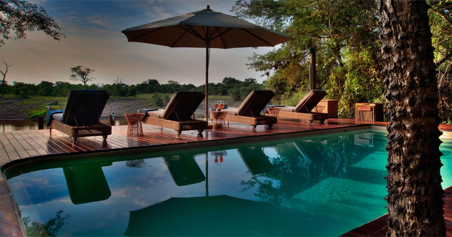 Swimming pool at Savute Safari Lodge in Chobe